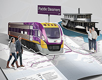 Public Transport Victoria / Photoshop Illustrations