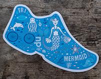 Mermaid triathlon design