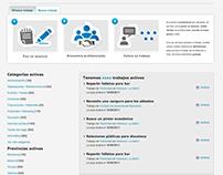 Freelancer website concept design