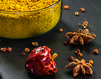 A Series Photography of Ingredient and Spice