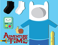 Adventure Time Finn Clothing Grid