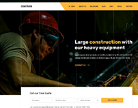 UI Design for Heavy Construction Company
