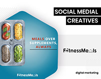 Social Media Creatives for Fitness Meals - BrandzGarage