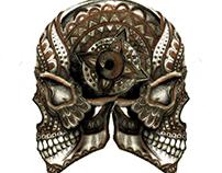 polinesian ornate skull