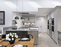 Modern Kitchen/Living - CGI