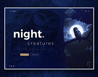 Night Creatures home page concept