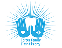Cortez Family Dentistry Negative Space Logo