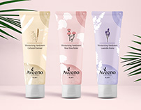 Aveeno Cosmetics Packaging