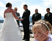 At the pier (S&B Wedding, Salmon Arm BC, July 2011)