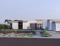 Exterior 3D Rendering Services for Residential Villa