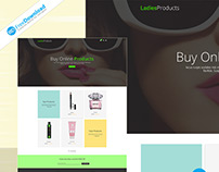 Womens Product Shop Template Psd