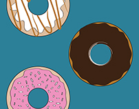 Doughnuts Illustration