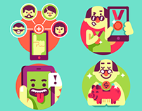 App designs and illustrations