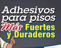 Publicidad para Adhesivos poster y flyers