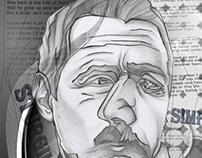 Multi face Sturgill Simpson. #pencil #mixedmedia