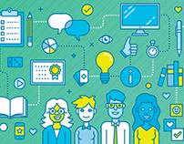 Management 3.0 - Website illustration