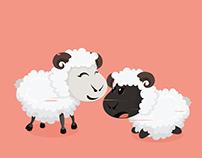 Chinese New Year 2015 Greeting Card / Sheep