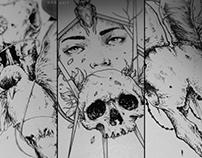 Ink editions (digital inking progress pics, skulls etc)