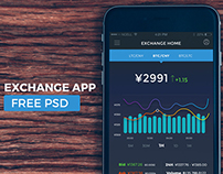 Exchange App Free PSD