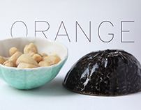 Orange peel ceramic bowl