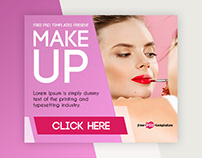 15 Free Makeup Banners Collection in PSD