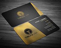Strlish Gold Corporate Business Card