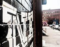 Pine Box Rock Shop (signage & mural)
