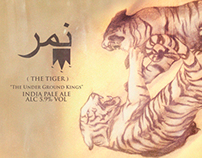 ( THE TIGER ): Beer Label Design