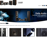 Delta Audio Website