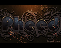 Pheed typography tribute