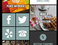Flat metro design for restaurant mobile app