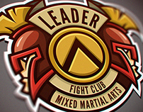 "Logo for Mixed Martial Arts club ""Leader""."