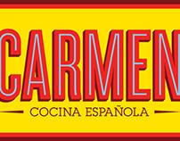 CARMEN Restaurant brand identity