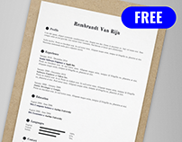 Resume template free ai on behance rembrandt van rijn free resumecv template ai yelopaper Gallery