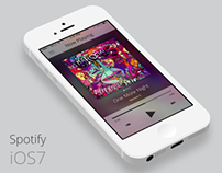 Spotify iOS7 Re-design