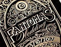 Fantomas Wedding invitation set