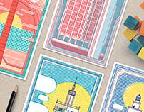 Skyline en Málaga - Set de postales