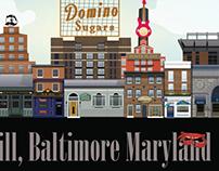 Baltimore Skyline Illustrations