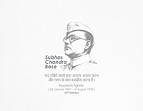 Subhas Chandra Bose 121th birthday