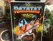 RATATAT / screen print poster