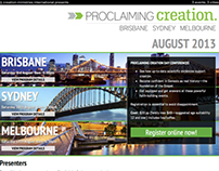 Proclaiming Creation conference series webpage