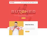 Butcher - Meat Shop PSD Template | Food