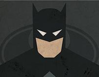 Minimalist DC Superhero Mugshot poster - Commission