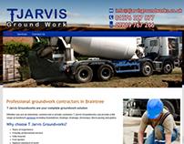 Ground work Contractor Web Design