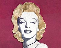Marilyn Monroe paper art