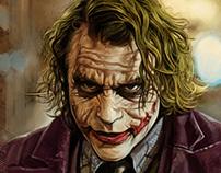 The Dark Knight fan art series