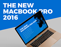 Apple Macbook 2016 Mockup with Touch Panel