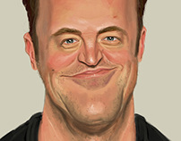 Matthew Perry Caricature