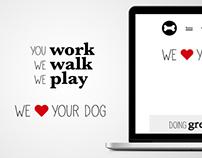 Web Design for a Dog Walker Company - Concept