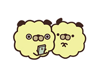 Pug Corn Popcorn - Character Design and LINE Stickers